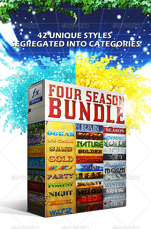 GraphicRiver Four Season Styles BUNDLE 3406840