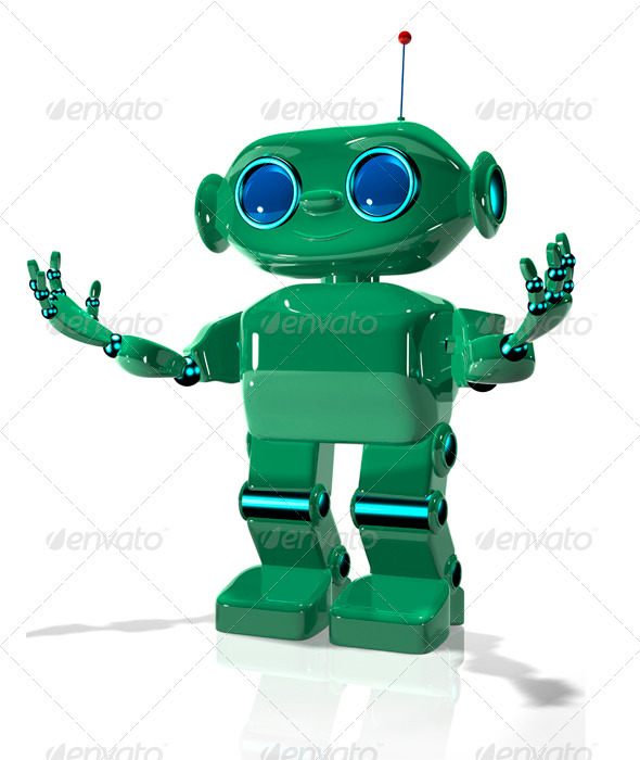 GraphicRiver Green Robot 2 3406850
