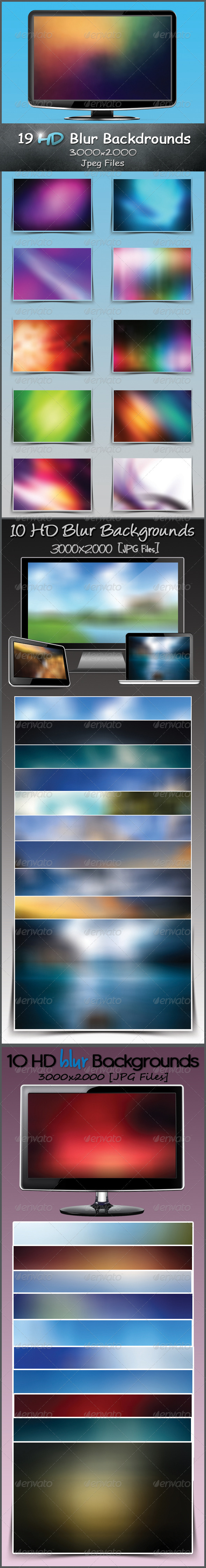GraphicRiver HD Blur Backgrounds Bundle 3407344