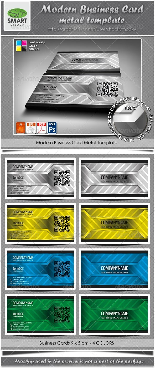 GraphicRiver Modern Business Card Metal Template 3407693