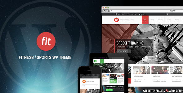 ThemeForest FIT Fitness Gym Responsive WordPress Theme 3407694