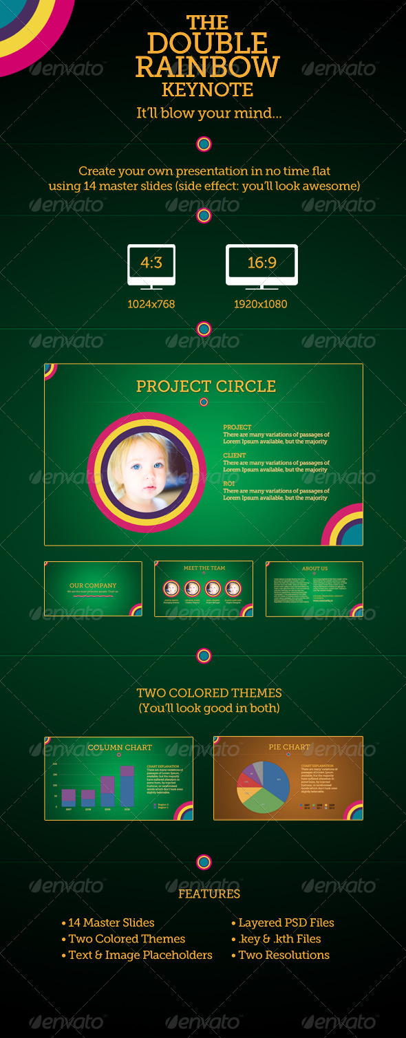 GraphicRiver The Double Rainbow Keynote Template 3315870