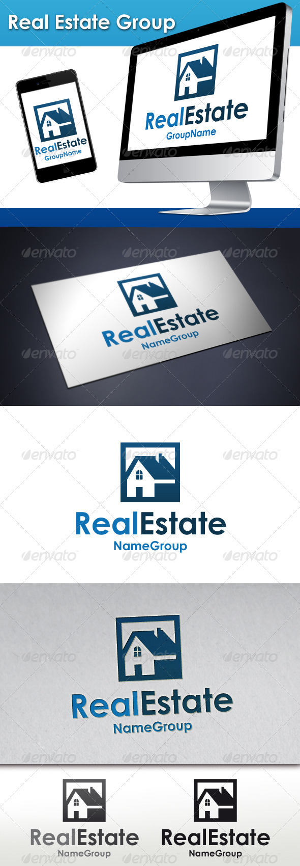 GraphicRiver Real Estate Group Logo 3408958