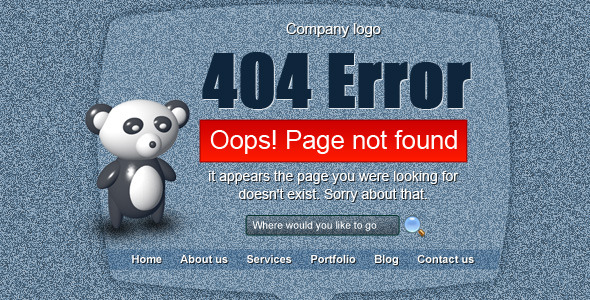 404 Error Screen