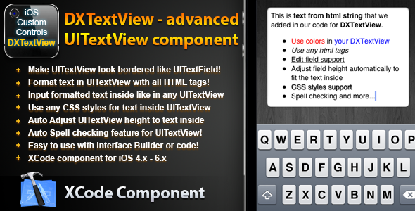 CodeCanyon DXTextView Advanced UITextView component 3409552