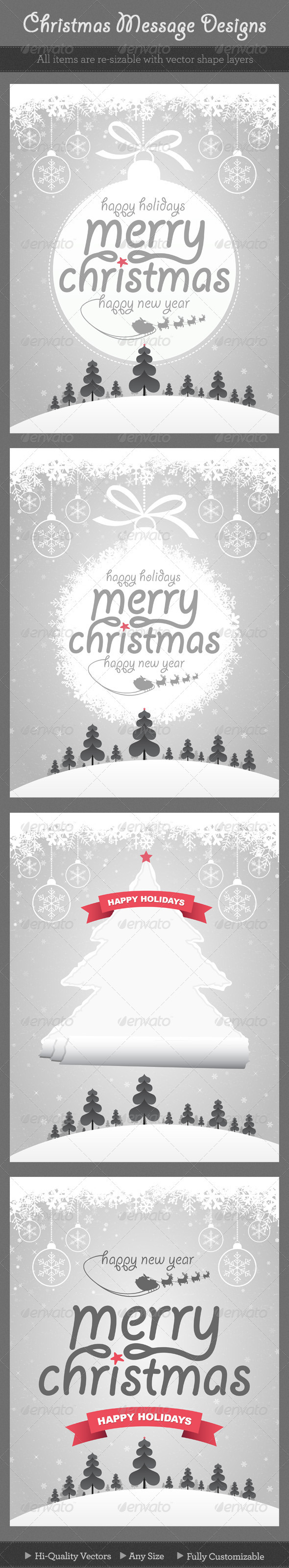 Christmas Message Designs - Backgrounds Decorative