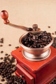 Vintage Coffee Grinder With Beans - PhotoDune Item for Sale