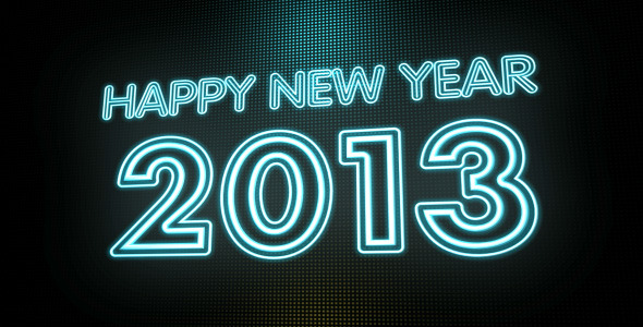 VideoHive Happy New Year 2013 Neon Sign HD 3411189