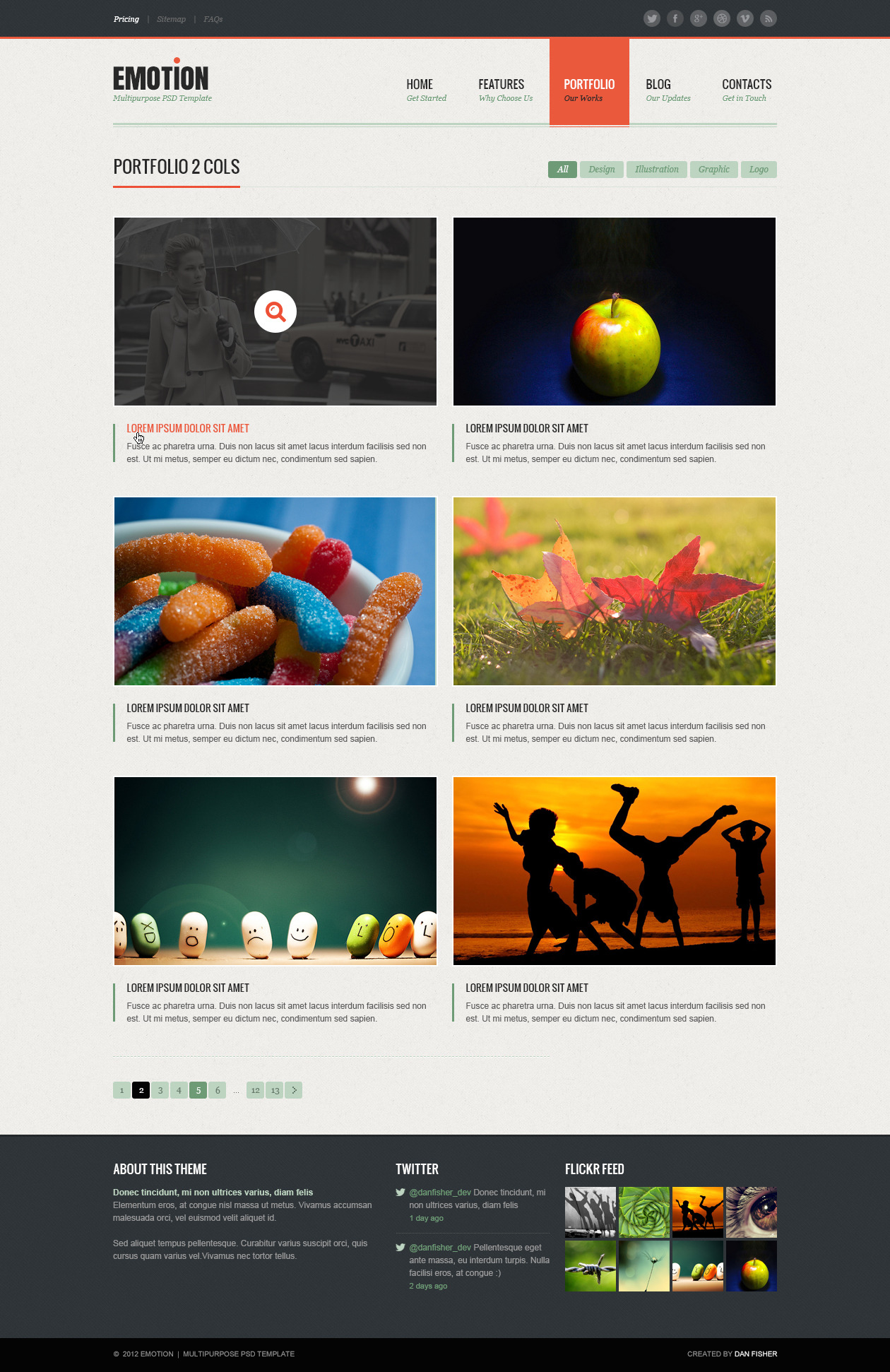 Emotion - PSD Template