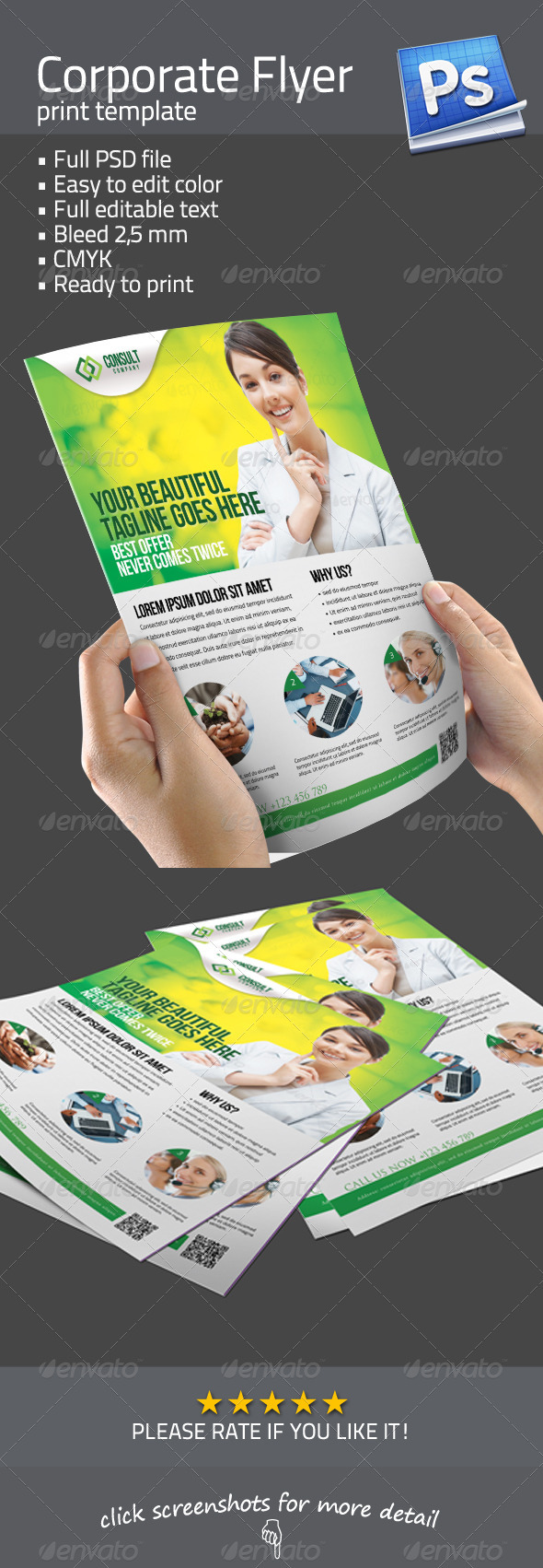 GraphicRiver Clean Corporate Flyer 3411702