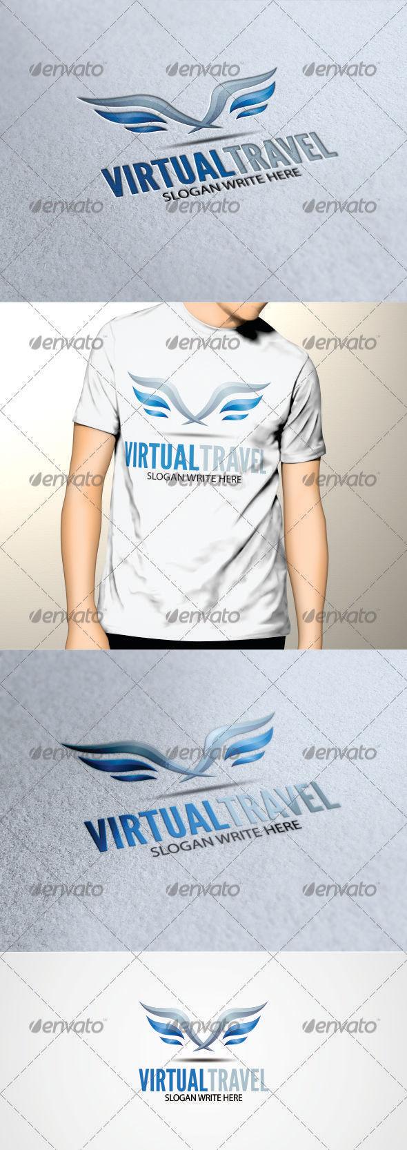 GraphicRiver Virtual Travel Logo Template 3411723