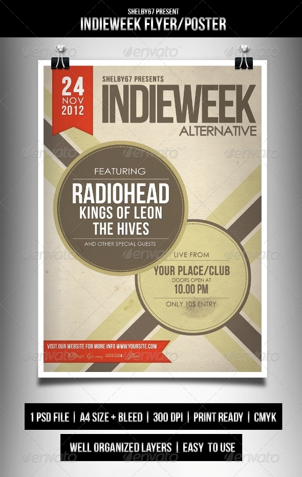 GraphicRiver Indieweek Flyer Poster 3411727