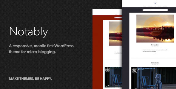 Notably  A Responsive WordPress Blogging Theme