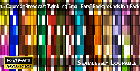 VideoHive Broadcast Twinkling Small Bars Pack 02 3411937