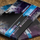 Violet Blue Grunge Business Card - GraphicRiver Item for Sale