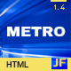 METRO - Responsive Under Construction Template - ThemeForest Item for Sale