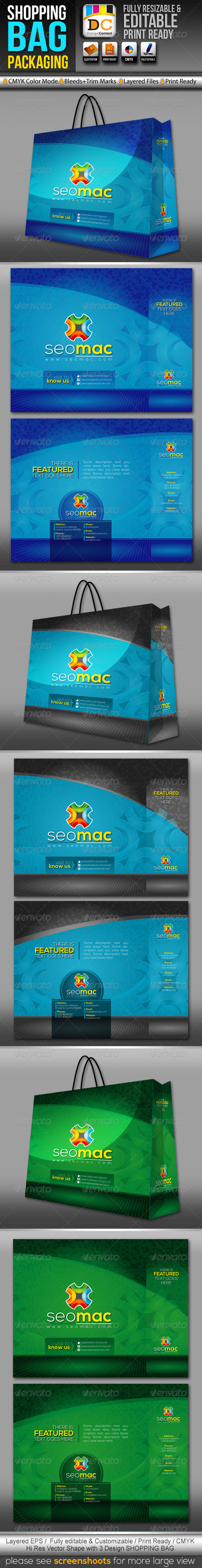 SeoMac Shopping Bag Packaging  - Packaging Print Templates