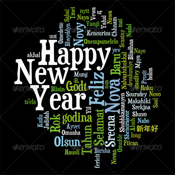 GraphicRiver New Year Tag Cloud 3414964