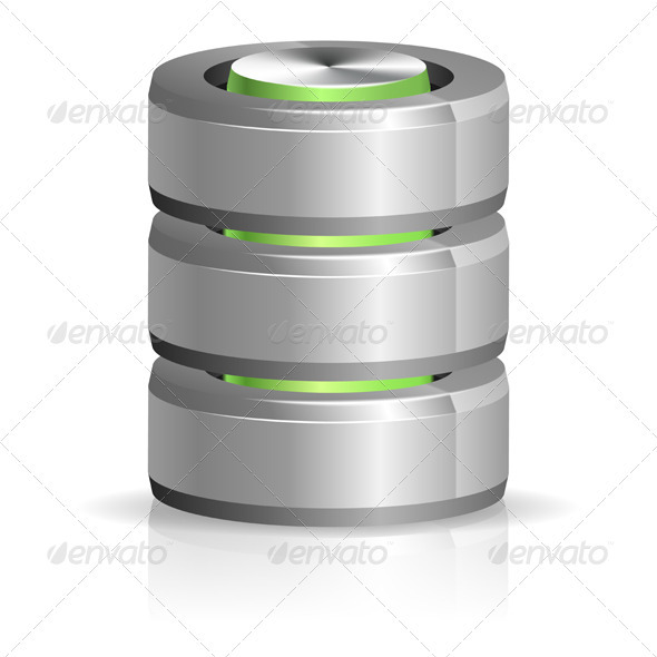 GraphicRiver Database and Hard Disk Icon 3414977