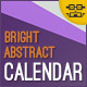 Bright Abstract Calendar - GraphicRiver Item for Sale