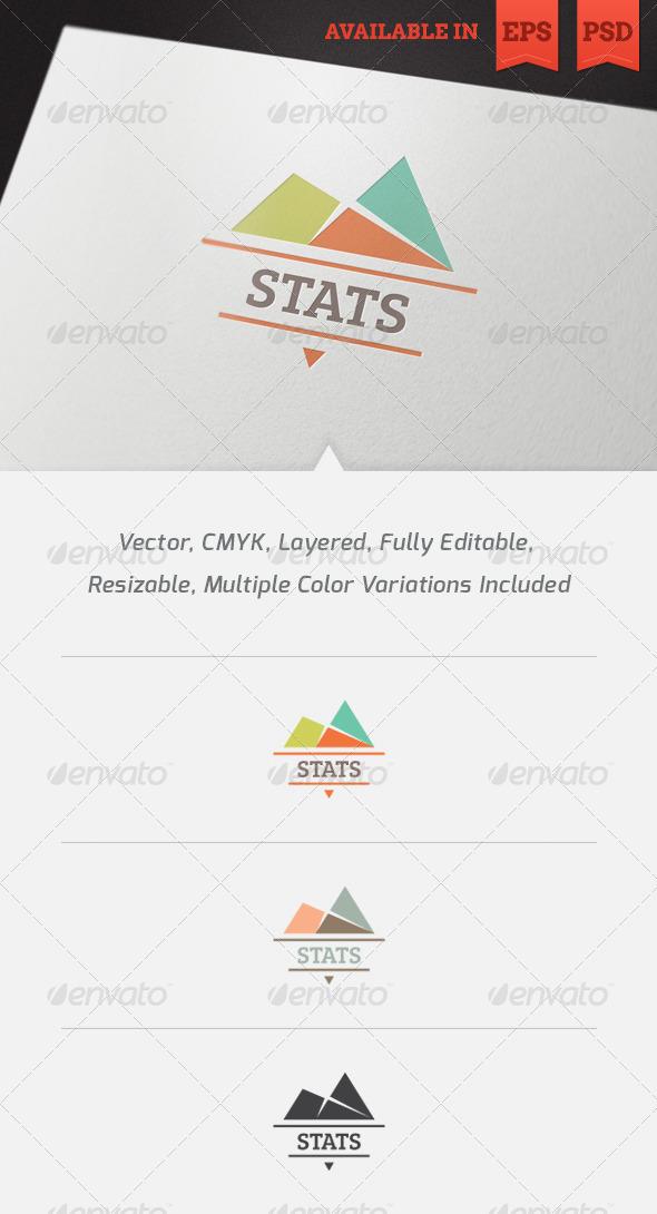 GraphicRiver Statistics Logo Template 3415642