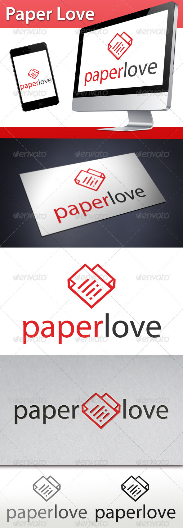GraphicRiver Love Paper Logo 3389276