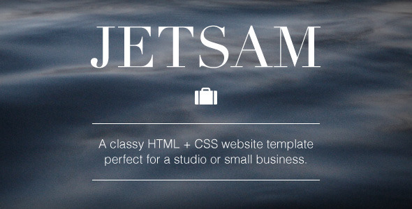 Jetsam HTML + CSS Website Template - Creative Site Templates