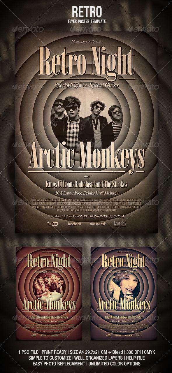 GraphicRiver Retro Flyer Poster 3416097