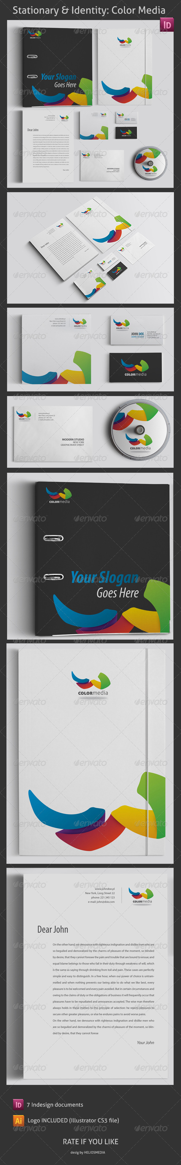 GraphicRiver Stationary & Identity Color Media 3417031