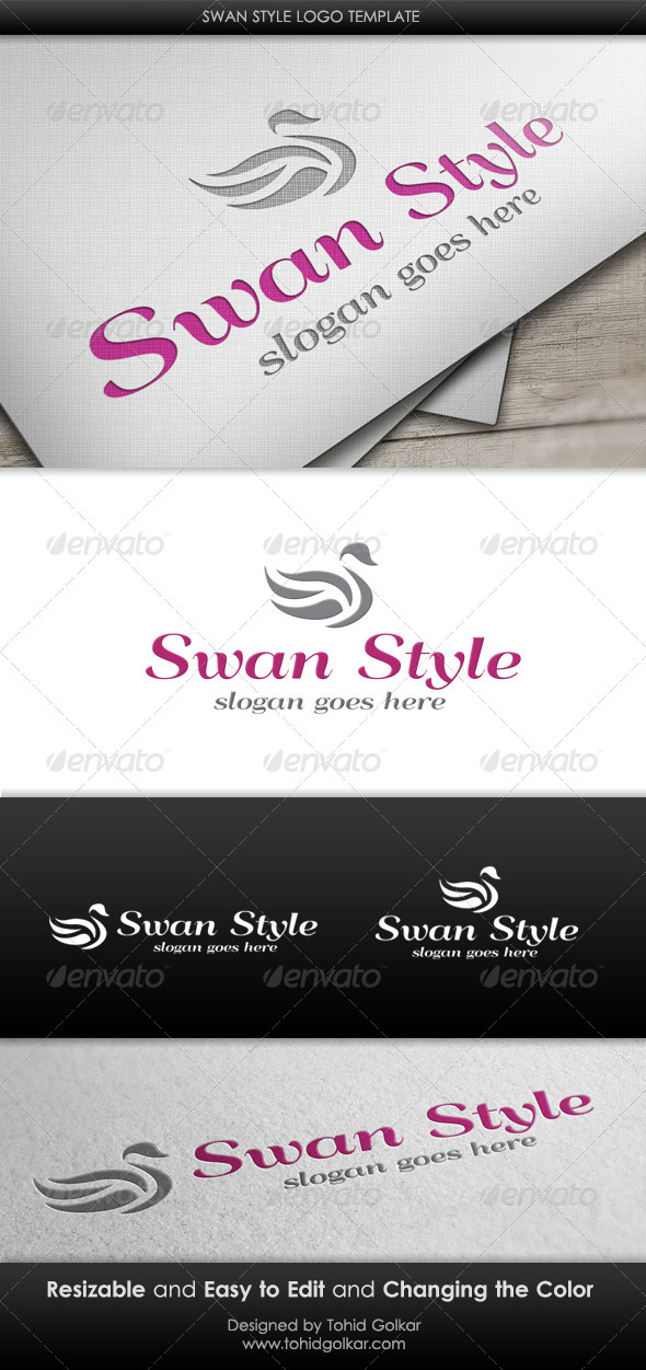 GraphicRiver Swan Style Logo Template 3418242