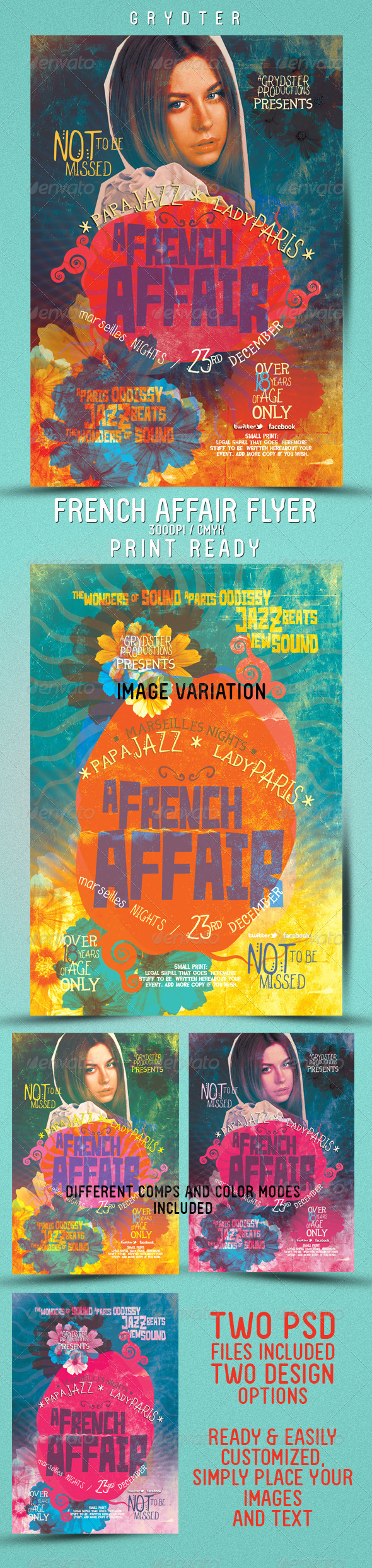 GraphicRiver French Affair Flyer 3418487