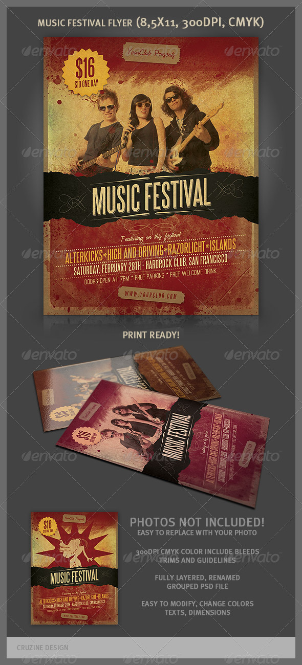 GraphicRiver Music Festival Flyer 3418496