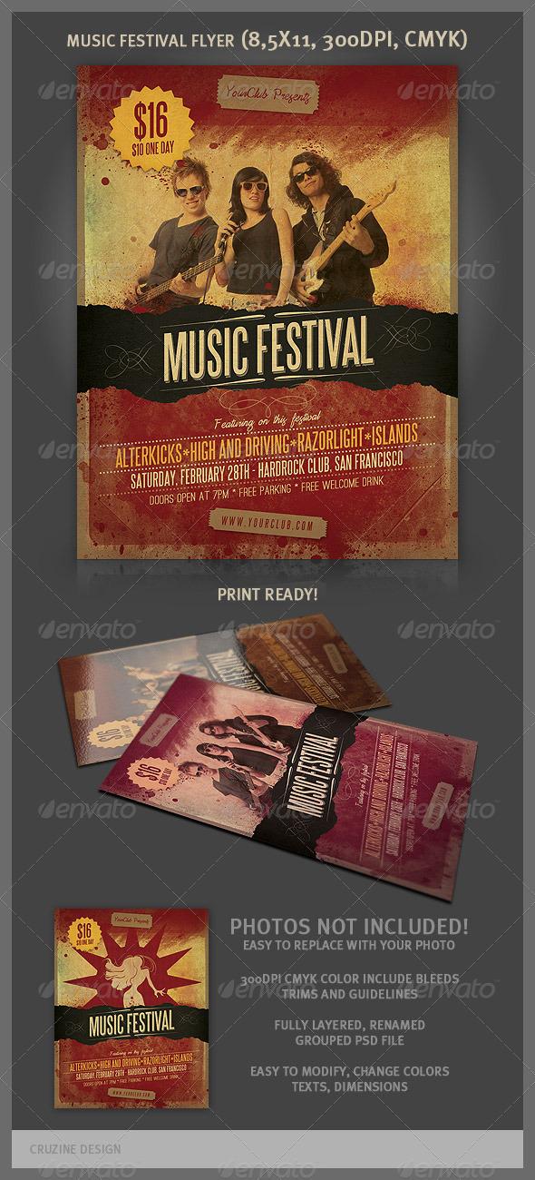 GraphicRiver Music Festival Flyer 3418496