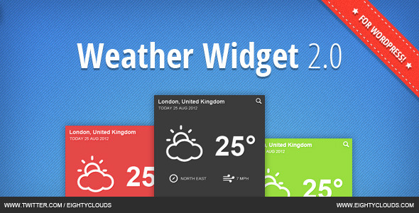 J.B.Weather Widget 2.0 for WordPress - CodeCanyon Item for Sale