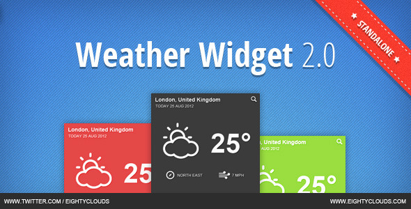 J.B.Weather Widget 2.0 - Standalone - CodeCanyon Item for Sale