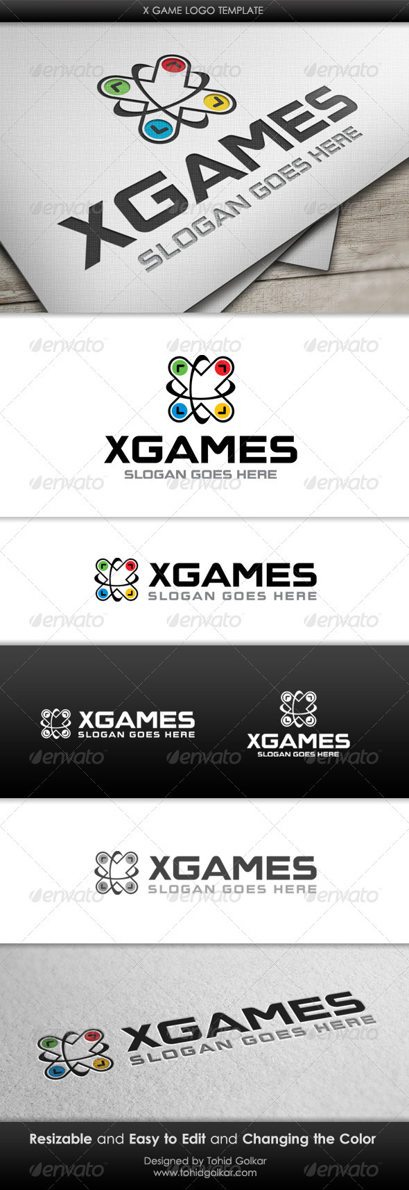 GraphicRiver x Game Logo Template 3421378
