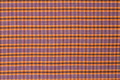 Orange Purple fabric tartan textured straight - PhotoDune Item for Sale