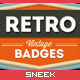 8 Retro Vintage Badges #4 - GraphicRiver Item for Sale
