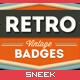 8 Retro Vintage Badges #4 - GraphicRiver Item for Sale