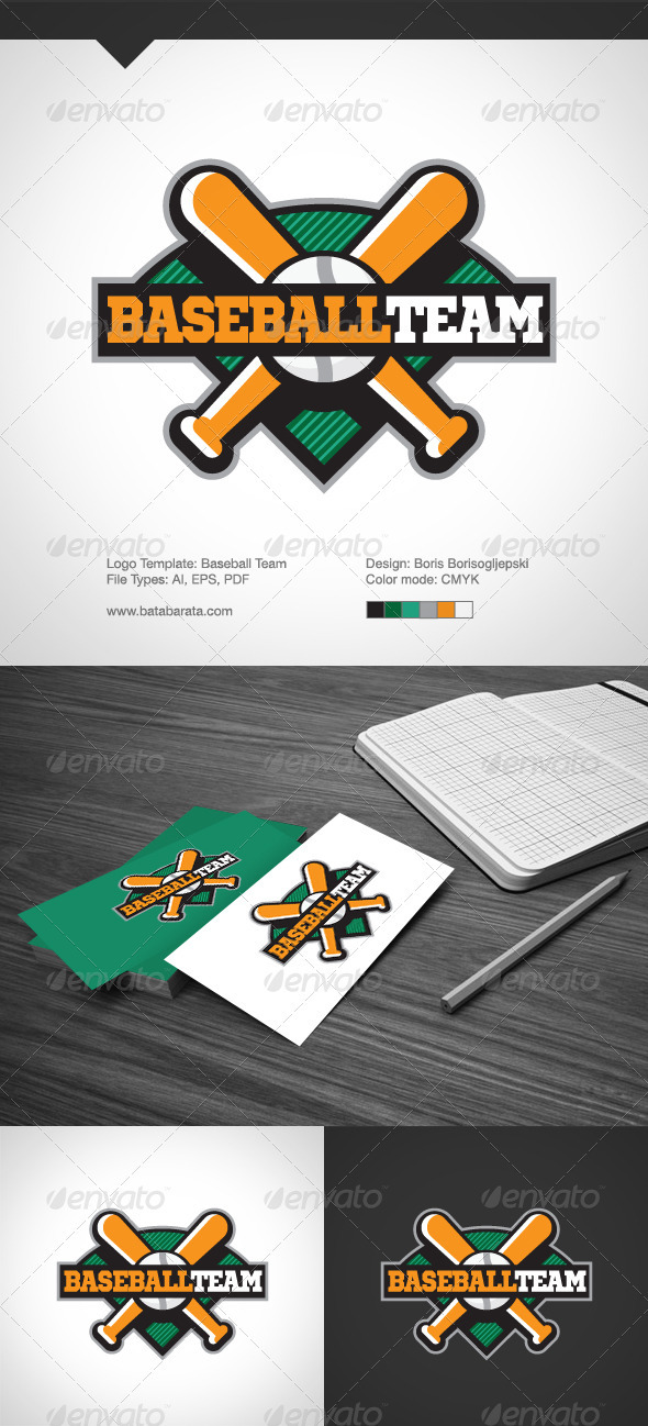 Baseball Team Logo Template - Logo Templates