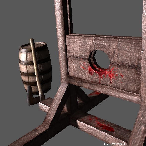 3DOcean Medieval Guillotine Low Poly 3422252