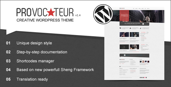 Provocateur - Creative Wordpress Theme - Creative WordPress