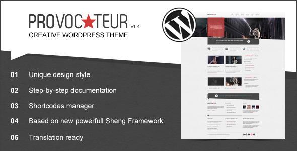 ThemeForest Provocateur Creative Wordpress Theme 1318183