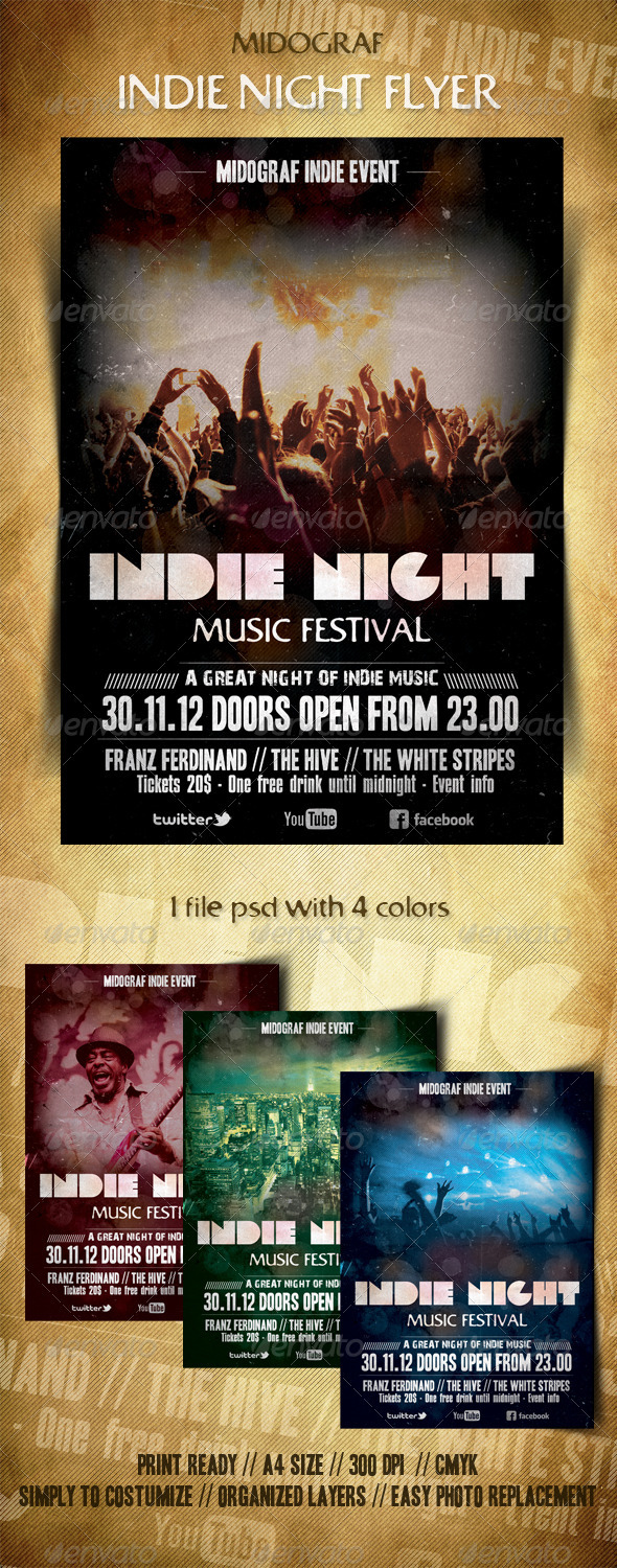 GraphicRiver Indie Night Flyer 3422660