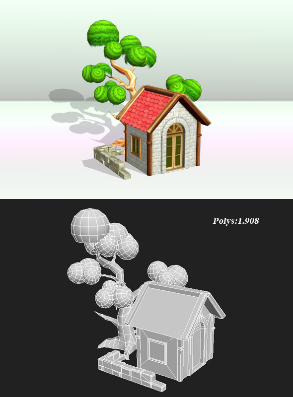3DOcean House And Tree Object 3422749