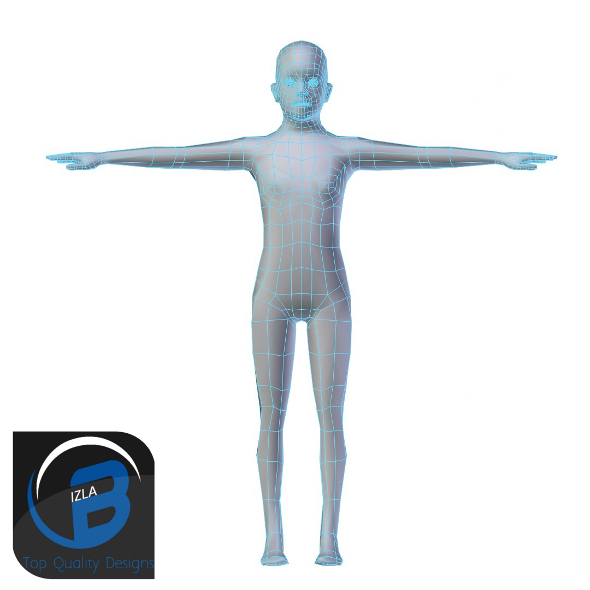 3DOcean Young Boy Base Mesh LOW POLY 3423253