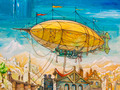 Huge Fantastic Dirigible - PhotoDune Item for Sale