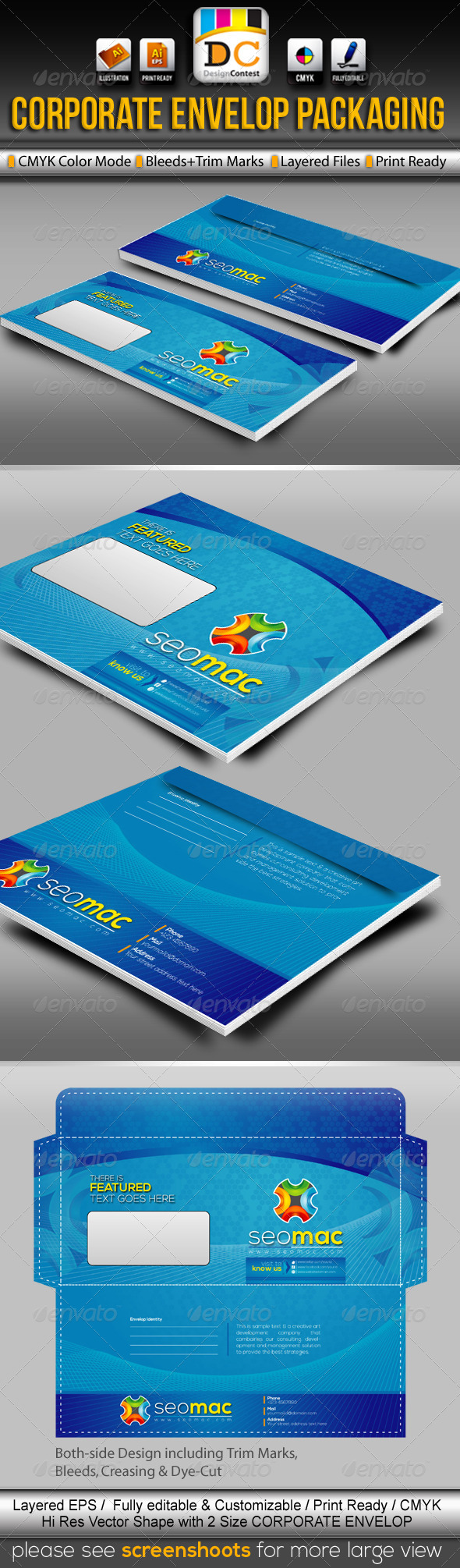 SeoMac_Official Envelop Packaging - Packaging Print Templates