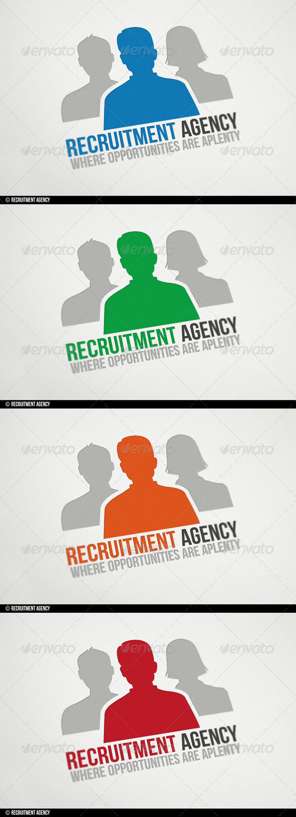 Recruitment Agency Logo - Humans Logo Templates