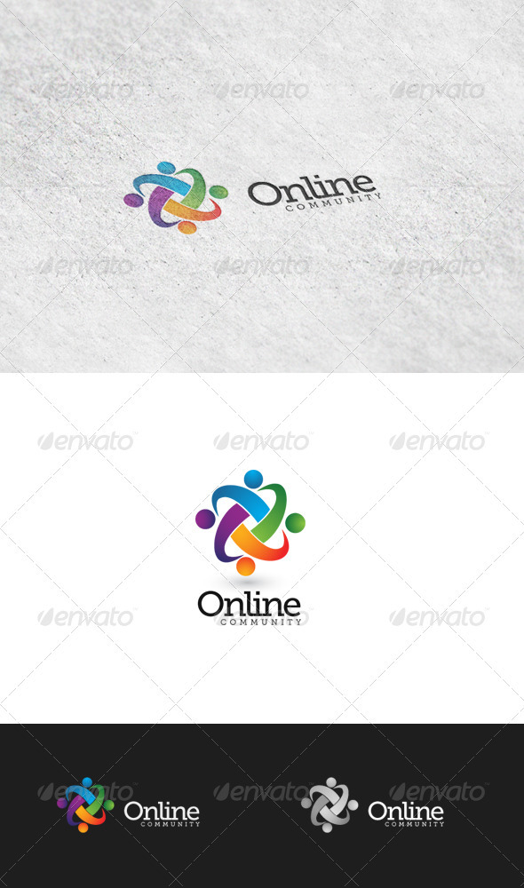 GraphicRiver Online Community 5 Logo Template 3426629